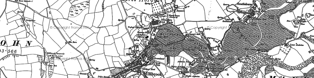 Old map of Millbrook in 1905