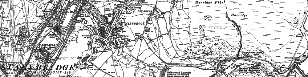 Old map of Wild Bank in 1907