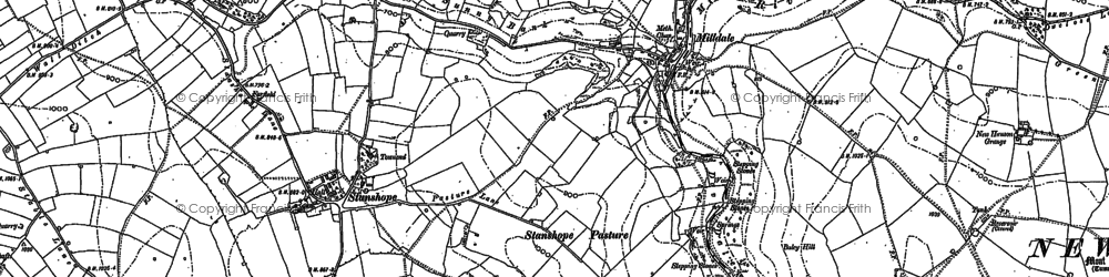 Old map of Milldale in 1879