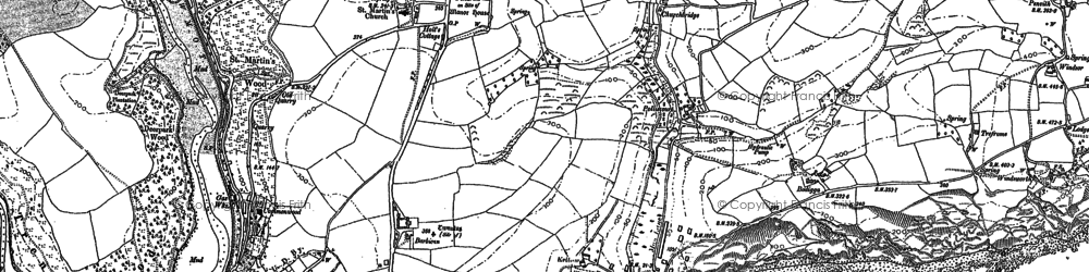 Old map of Millendreath in 1881