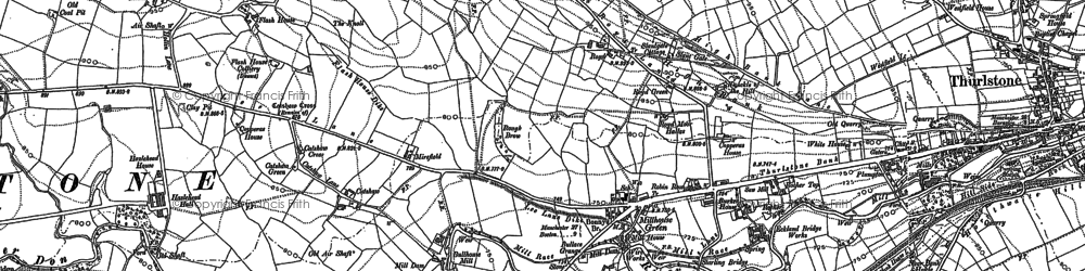 Old map of Catshaw in 1891