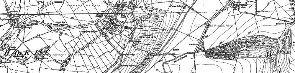 Old map of Whitekeld Dale in 1890