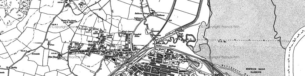 Old map of Millom in 1922