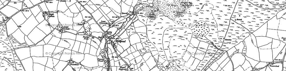 Old map of Millpool in 1881