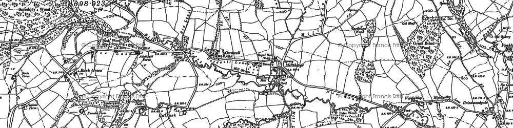 Old map of Bank Green in 1876