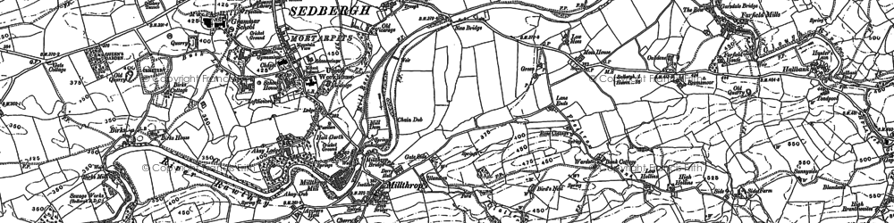 Old map of Lane Ends in 1907