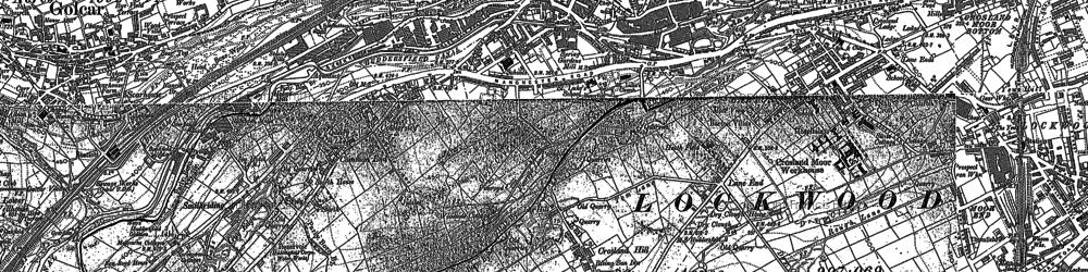 Old map of Milnsbridge in 1890