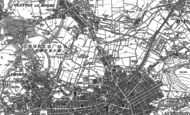 Old Map of Milnshaw, 1891 - 1892