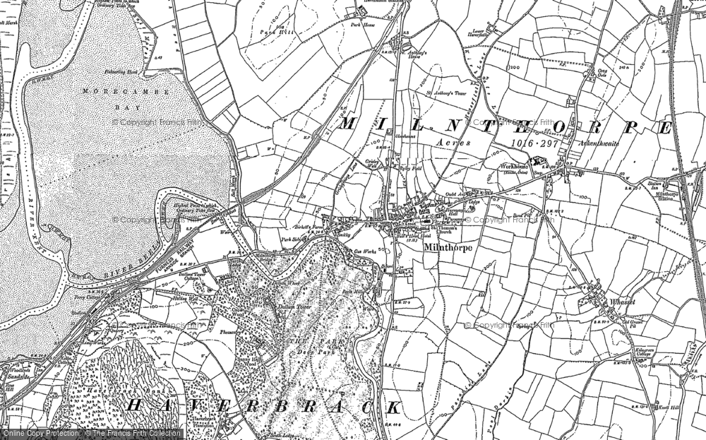 Old Map of Milnthorpe, 1897 - 1912 in 1897
