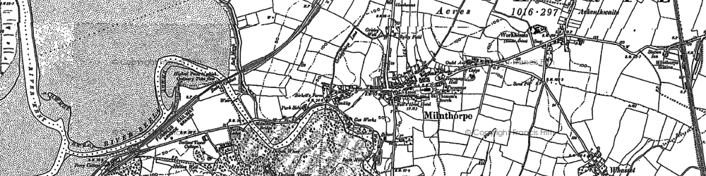 Old map of Milnthorpe in 1897