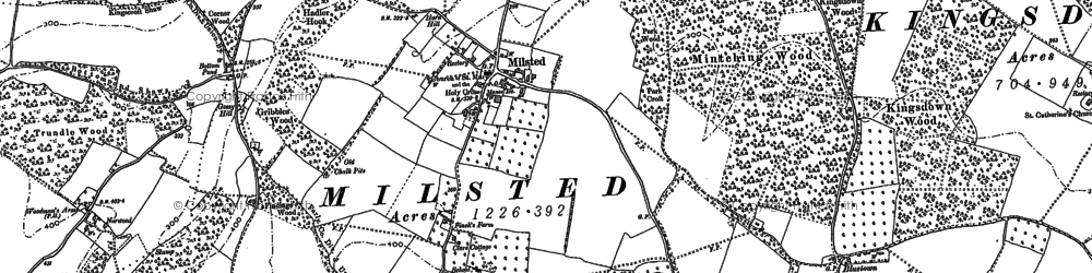 Old map of Bluetown in 1896