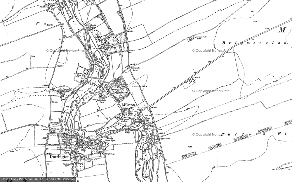 Old Map of Historic Map covering Ablington Down in 1899
