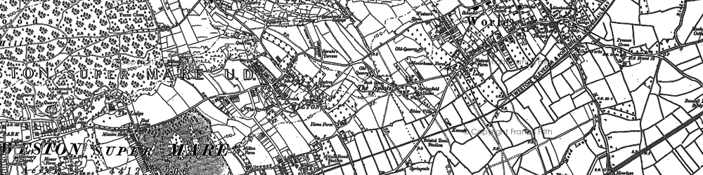 Old map of Airfield (disused) in 1902