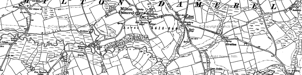 Old map of Milton Damerel in 1884
