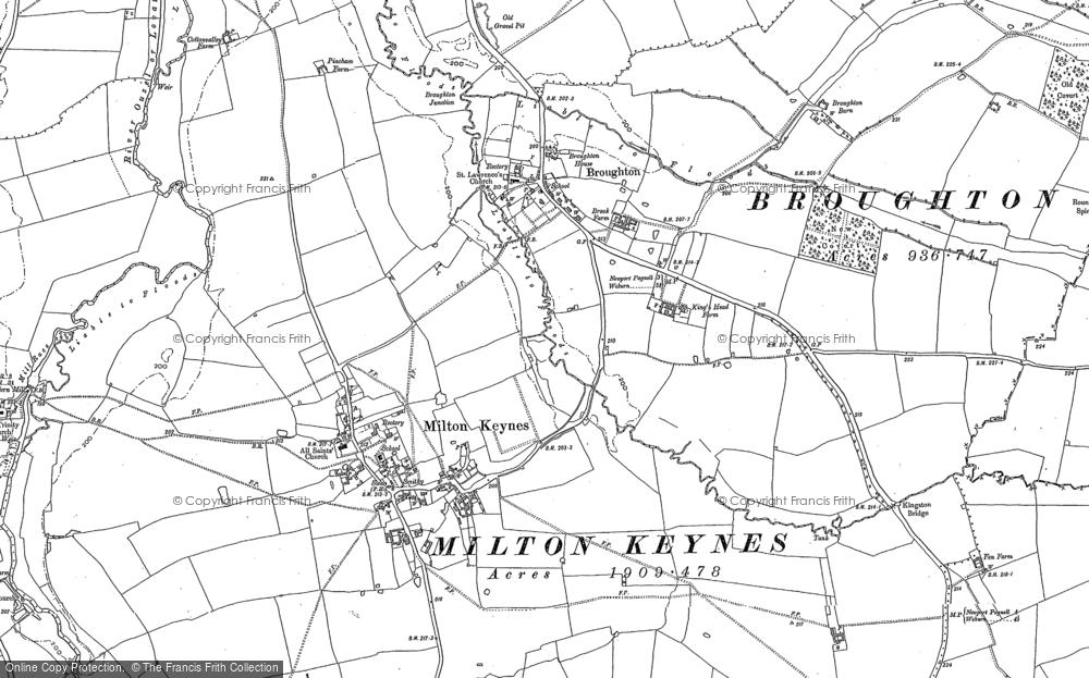 Old Maps of Milton Keynes Village Francis Frith
