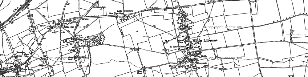 Old map of Milton Lilbourne in 1899