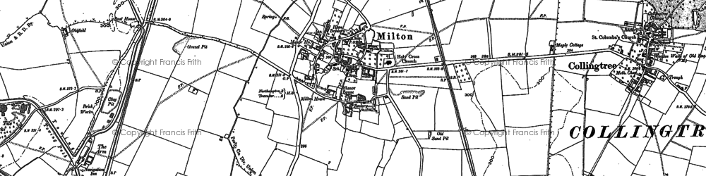 Old map of Milton Malsor in 1883