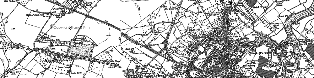 Old map of Milton Regis in 1896