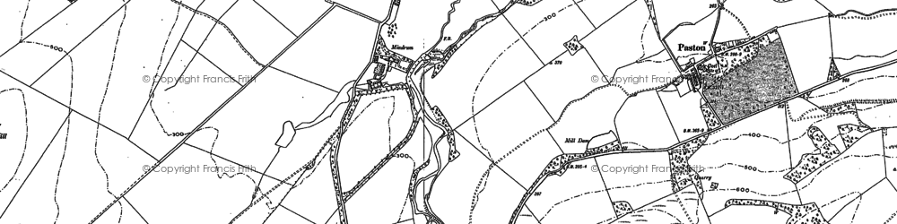 Old map of Whaup Moor in 1896