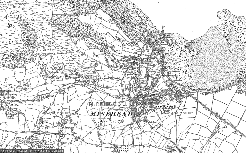 Old Map of Minehead, 1902 in 1902