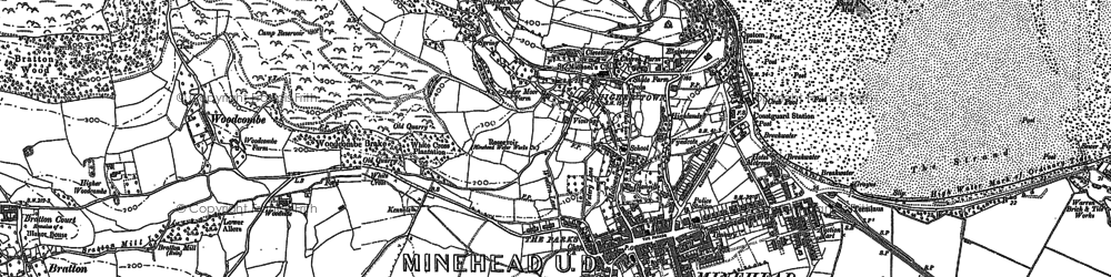 Old map of Minehead in 1902