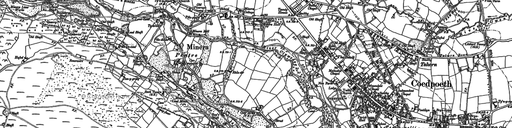 Old map of Minera in 1898