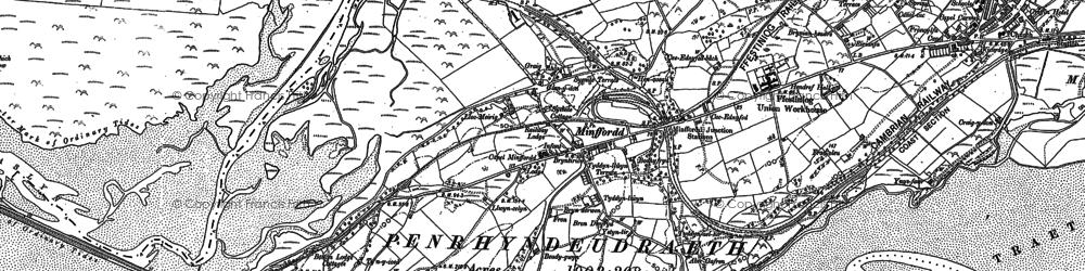 Old map of Ynys Gifftan in 1887