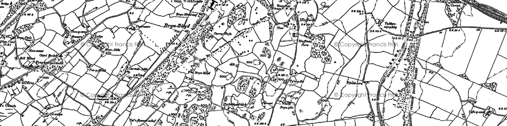 Old map of Minffordd in 1888