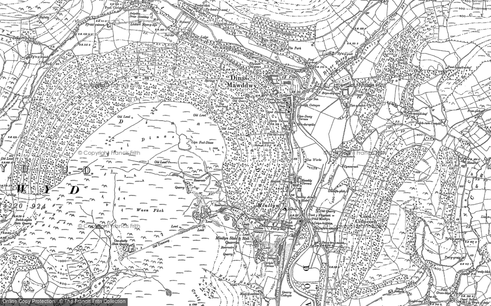Old Map of Historic Map covering Afon Cerist in 1900
