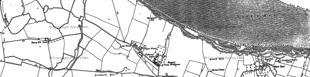 Old map of Minster in 1896