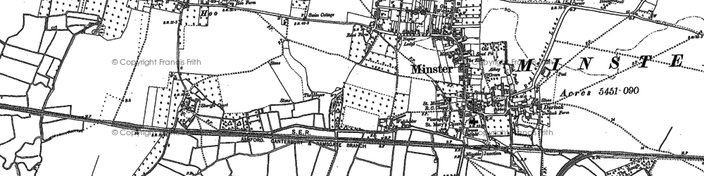 Old map of Abbot's Wall in 1896