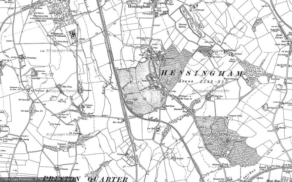 Old Map of Historic Map covering Woodend in 1923
