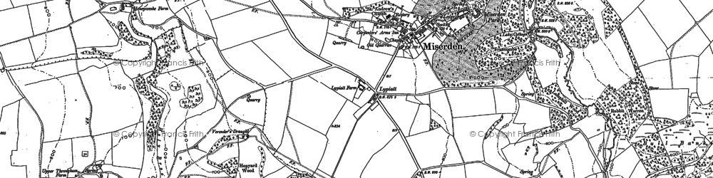 Old map of Wishanger in 1882