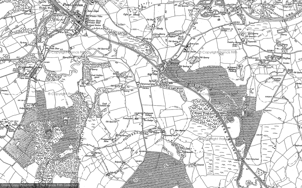Old Map of Miskin, 1898 in 1898