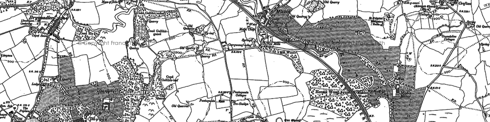 Old map of Miskin in 1898