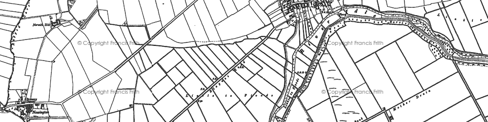 Old map of Austerfield Drain in 1898