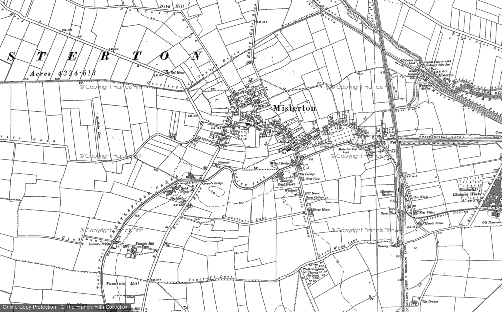 Old Map of Misterton, 1898 - 1905 in 1898