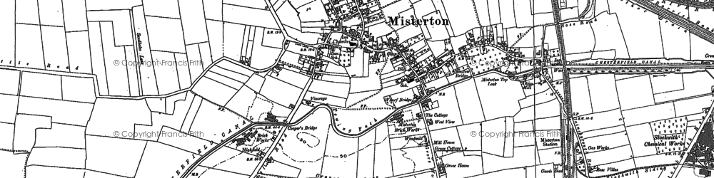 Old map of Misterton in 1898
