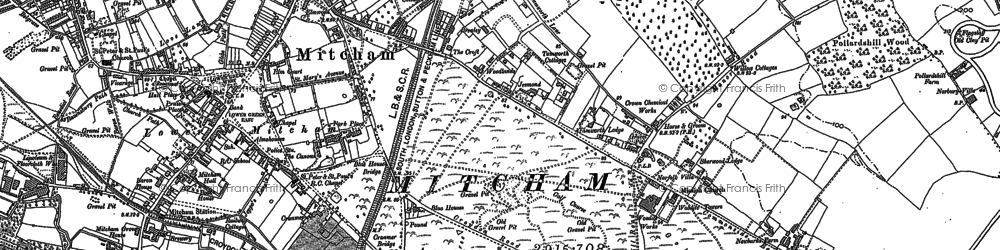Old map of Mitcham in 1894