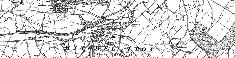 Old map of Mitchel Troy in 1900