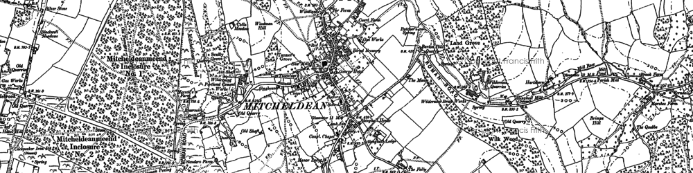 Old map of Mitcheldean in 1901
