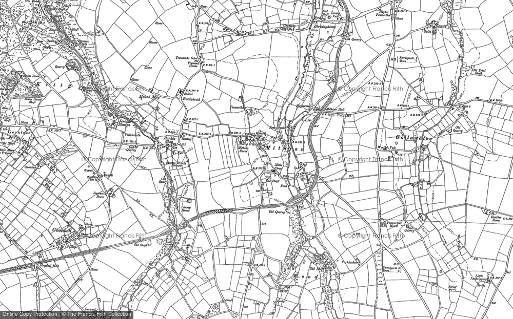 Old Map of Mithian, 1886 - 1906 in 1886
