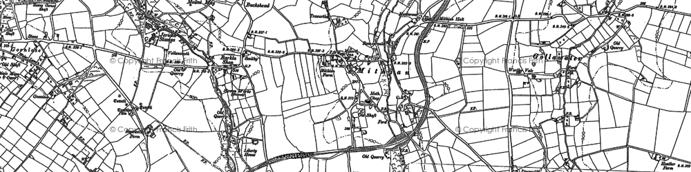 Old map of Mithian in 1886