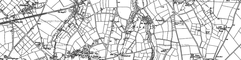 Old map of Silverwell in 1886