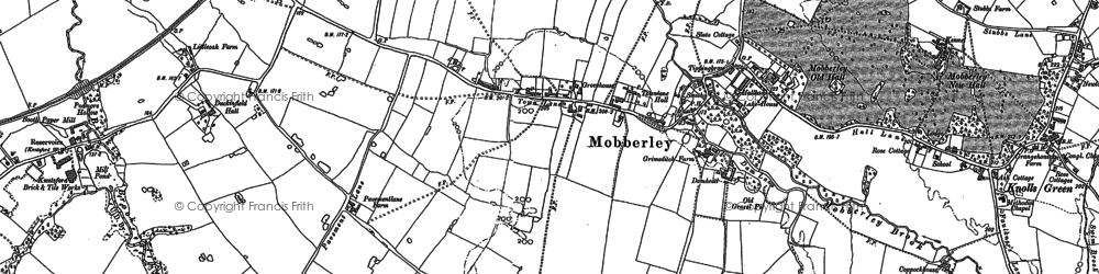 Old map of Mobberley in 1897