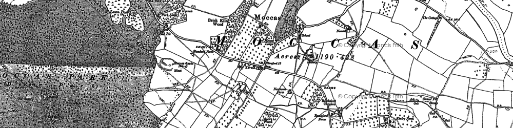 Old map of Woodbury Hill Wood in 1884