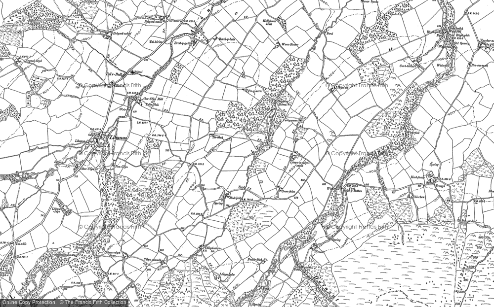 Old Map of Historic Map covering Afon Tarell in 1882