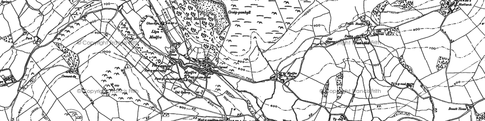 Old map of Lawnt, The in 1910