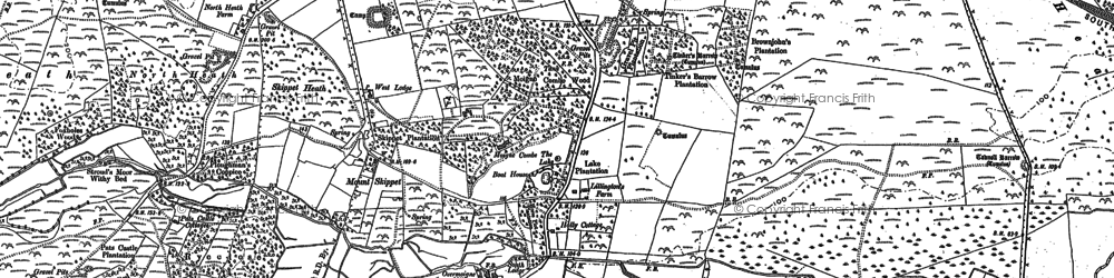Old map of Tinker's Barrow in 1886