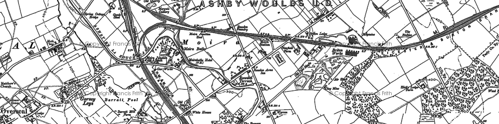 Old map of Ashby-de-la-Zouch Canal in 1900